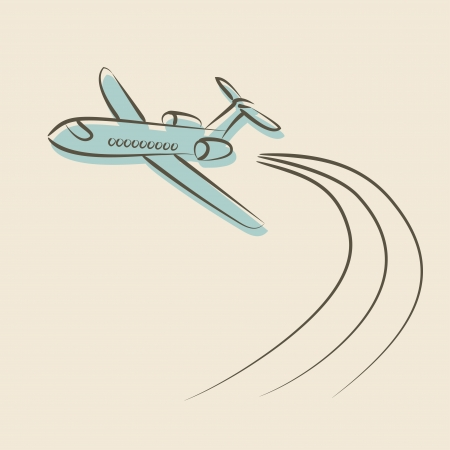 retro background with plane - vector illustration Vector