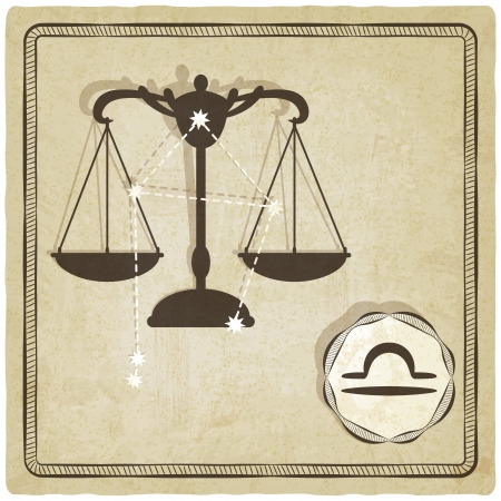 astrological sign - libra - vector illustration Vector