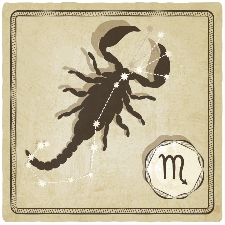astrological sign - scorpio - vector illustration Vector