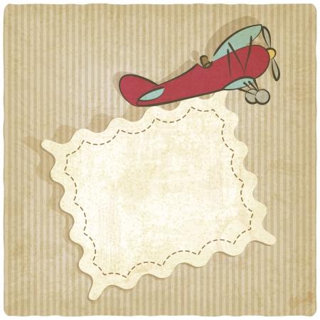 retro background with plane - vector illustration Illustration