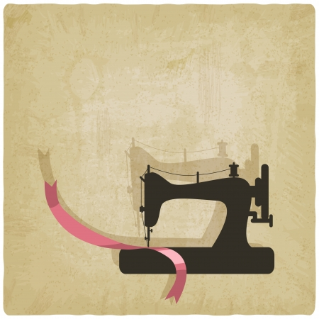 sewing machine: sewing background - vector illustration