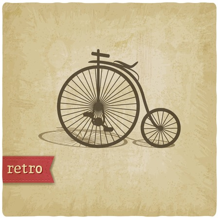 Vintage background with bicycle - vector illustration Vector