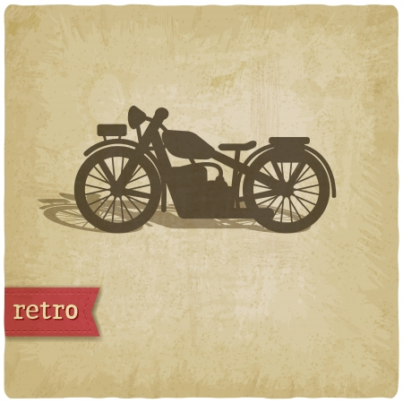 Vintage background with motorcycle - vector illustration