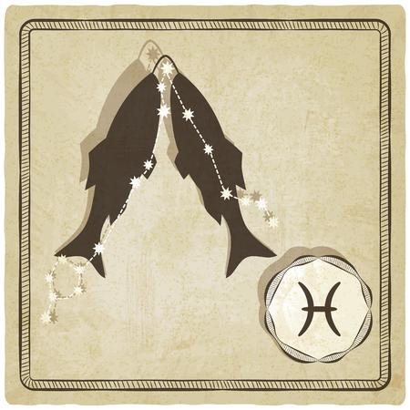vedic: astrological sign - pisces - vector illustration Illustration