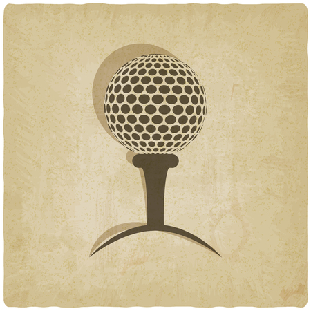 sport golf with vintage background Vector
