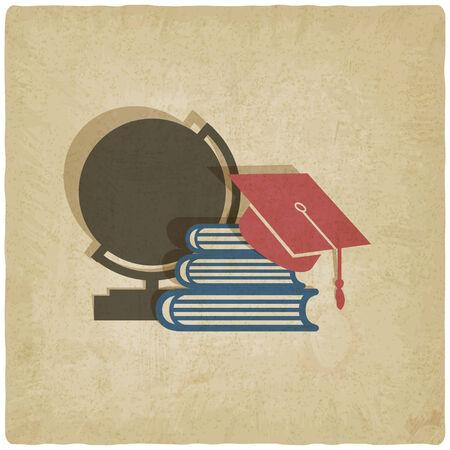 graduated: education old background - vector illustration