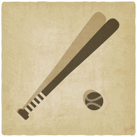 sport baseball with vintage background - vector illustration