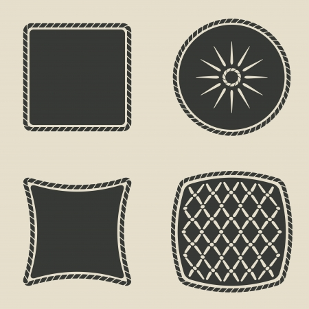 cushion stylized icons set - vector illustration Vector