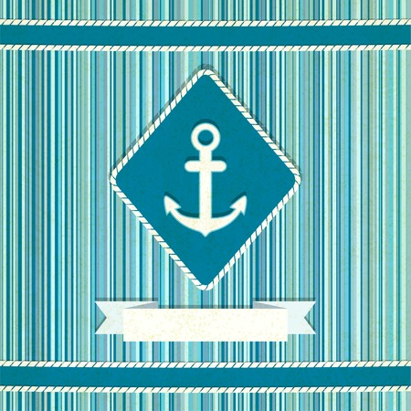 marine striped old background illustration Vector