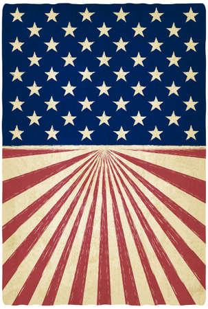 american flags: rayas y estrellas de fondo antiguo - ilustraci�n vectorial