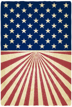 american history: stripes and stars old background - vector illustration