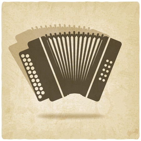 accordion: accordion old background illustration