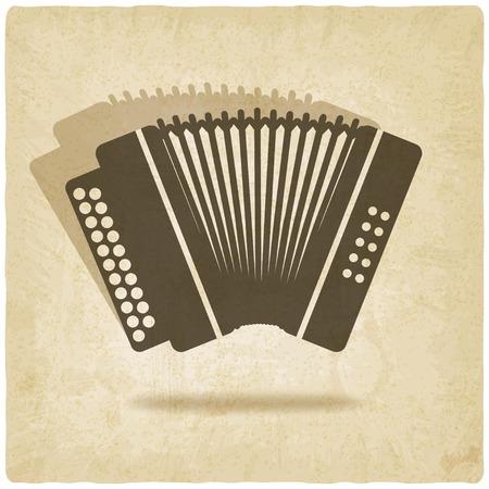 accordion old background illustration