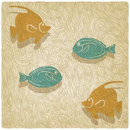 old background: fish old background illustration Illustration