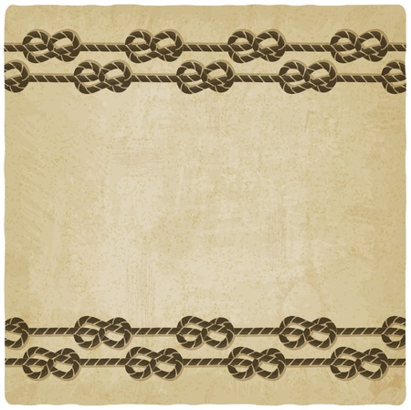 marine knot background - vector illustration Vector