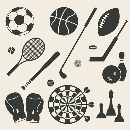 table tennis: sport icons set - vector illustration