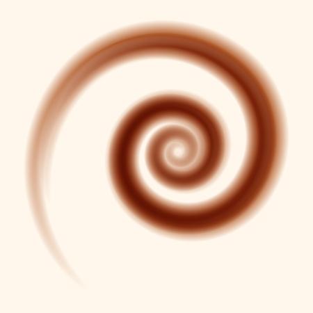 chocolate and milk swirl background  - vector illustration