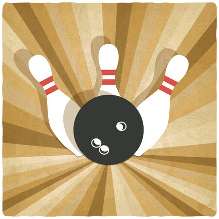 bowling old background - vector illustration Vector