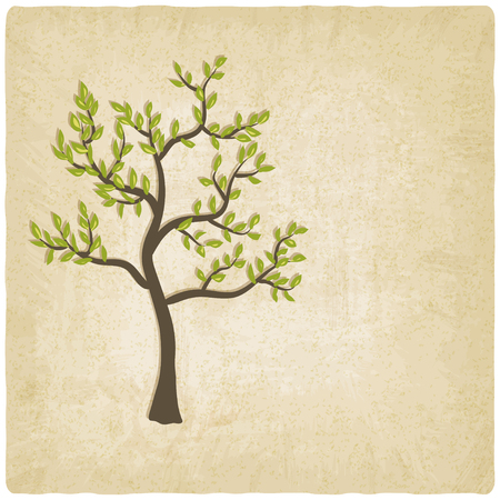 tree old background - vector illustration Vector