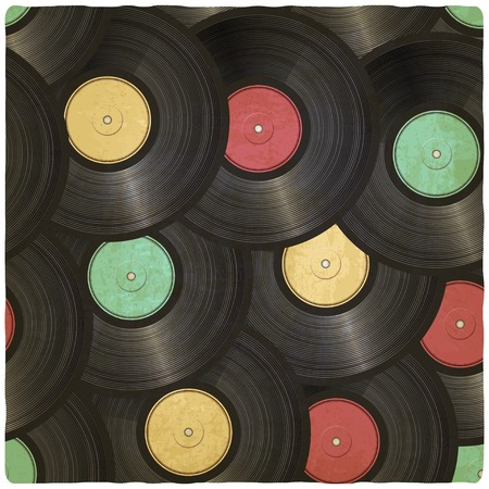 vinyl record old background - vector illustration. eps 10 Vector
