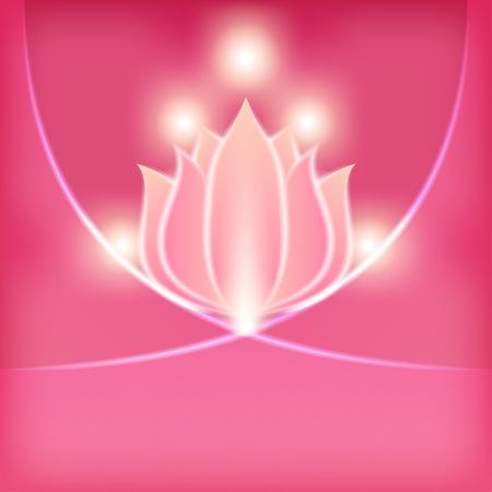 pink flower blurred background - vector illustration. eps 10 Vector
