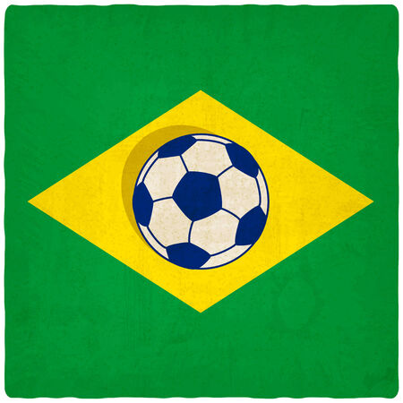 Brazil soccer old background  Vector