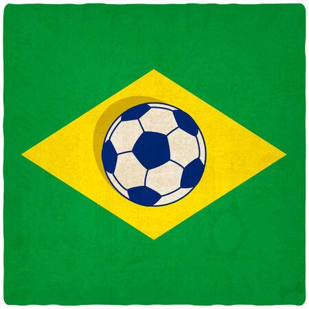 old background: Brazil soccer old background