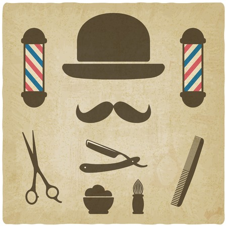 barber old background  Vector