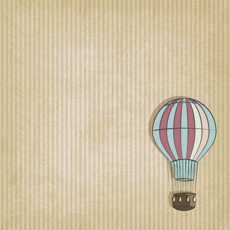 aerostat: retro background with aerostat  Illustration