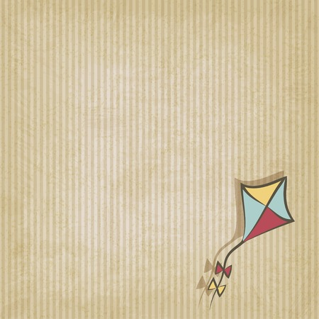 paper kite: retro background with kite  Illustration