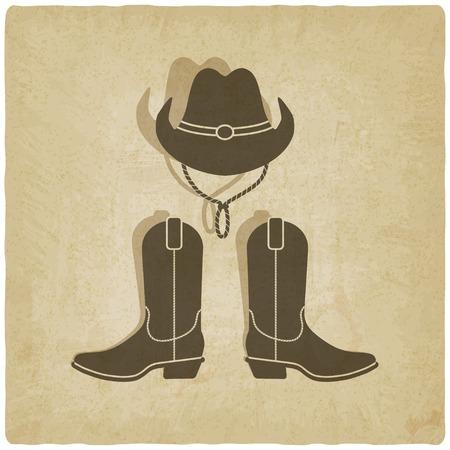 botas vaqueras: vaquero fondo antiguo Vectores