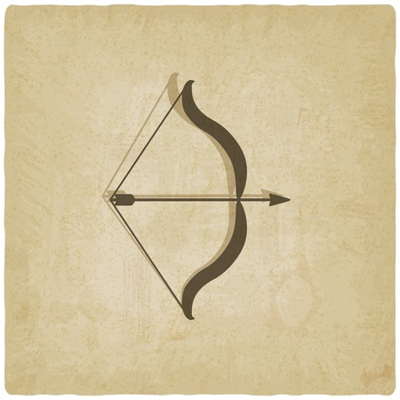 bow arrow: bow and arrow old background - vector illustration. eps 10