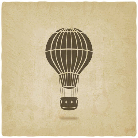 hot air balloon old background- vector illustration. eps 10 Vector