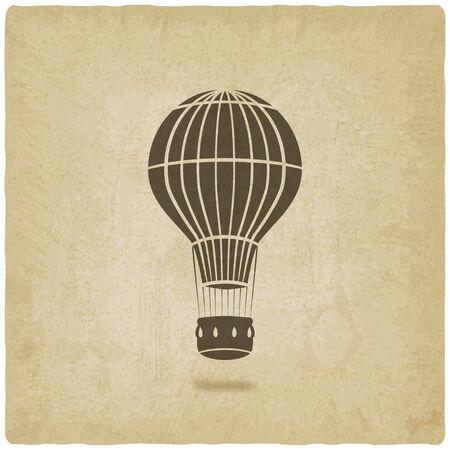 hot air balloon old background- vector illustration. eps 10 Illustration