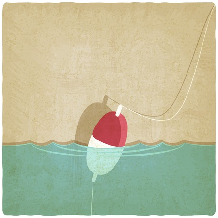bobber fishing background - vector illustration. eps 10 Vector