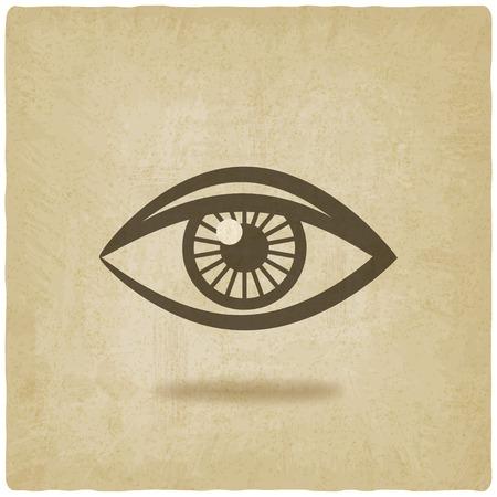 eye symbol old background - vector illustration. eps 10