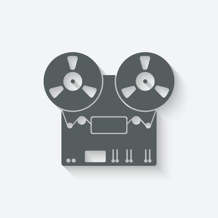 magnetofon: magnetofon ikonę - ilustracji wektorowych. eps 10