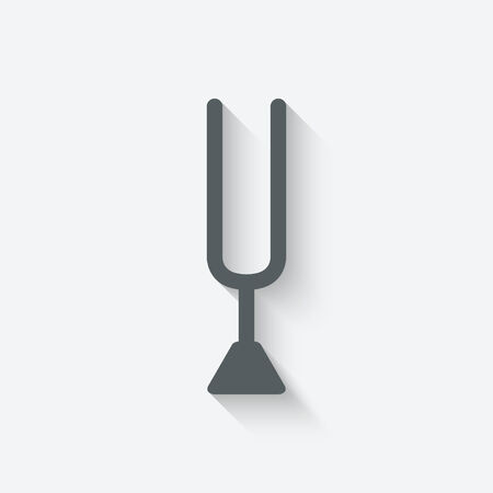 tuning fork icon - vector illustration. eps 10 Vector