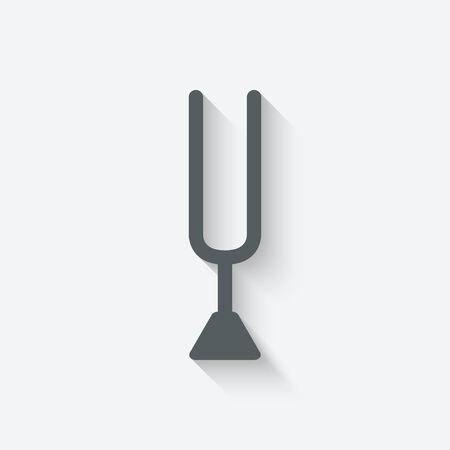 diapason: tuning fork icon - vector illustration. eps 10