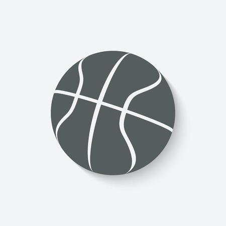 basketball sport icon - vector illustration. eps 10 Vector
