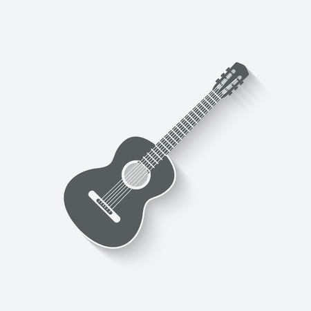 guitar music icon - vector illustration. eps 10