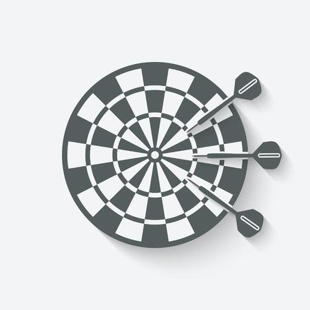 darts sport icon - vector illustration. eps 10 Illustration