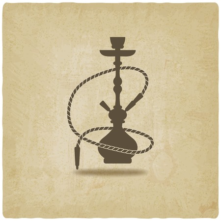 hookah: hookah old background - vector illustration. eps 10 Illustration