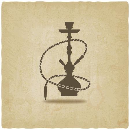 narghil�: narghil� vecchio sfondo - illustrazione vettoriale. eps 10 Vettoriali