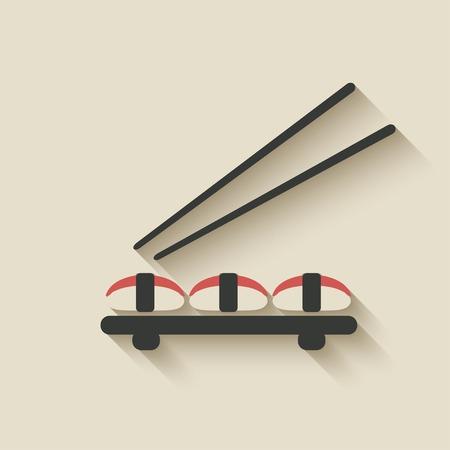 sushi roll: sushi roll icona - illustrazione vettoriale. eps 10