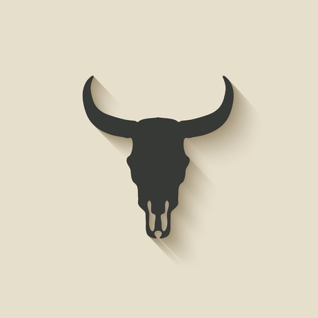 skull icon: bull skull icon - vector illustration. eps 10