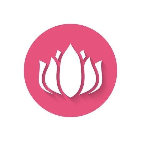 meditation isolated white: pink flower icon - vector illustration. eps 10