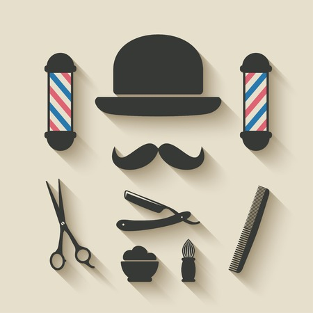 barber icon set - vector illustration. eps 10 Vector