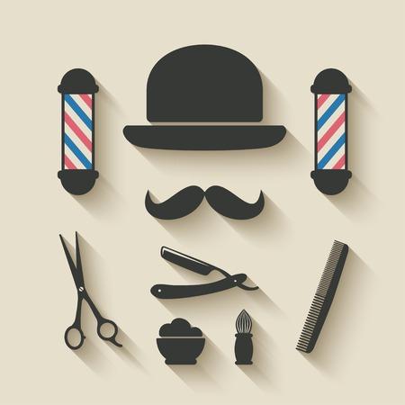 barber icon set - vector illustration. eps 10