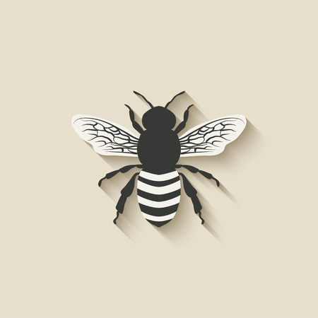 bee insect iconen - vector illustratie. eps 10 Stock Illustratie